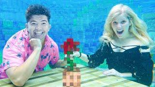 I Had an UNDERWATER Minecraft Date with Preston!