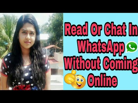 How To Chat Offline In WhatsApp Without Coming Online In ANDROID