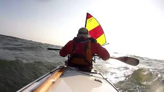 Kayak Sailing with Falcon Sails -  Down wind run. Thumbnail