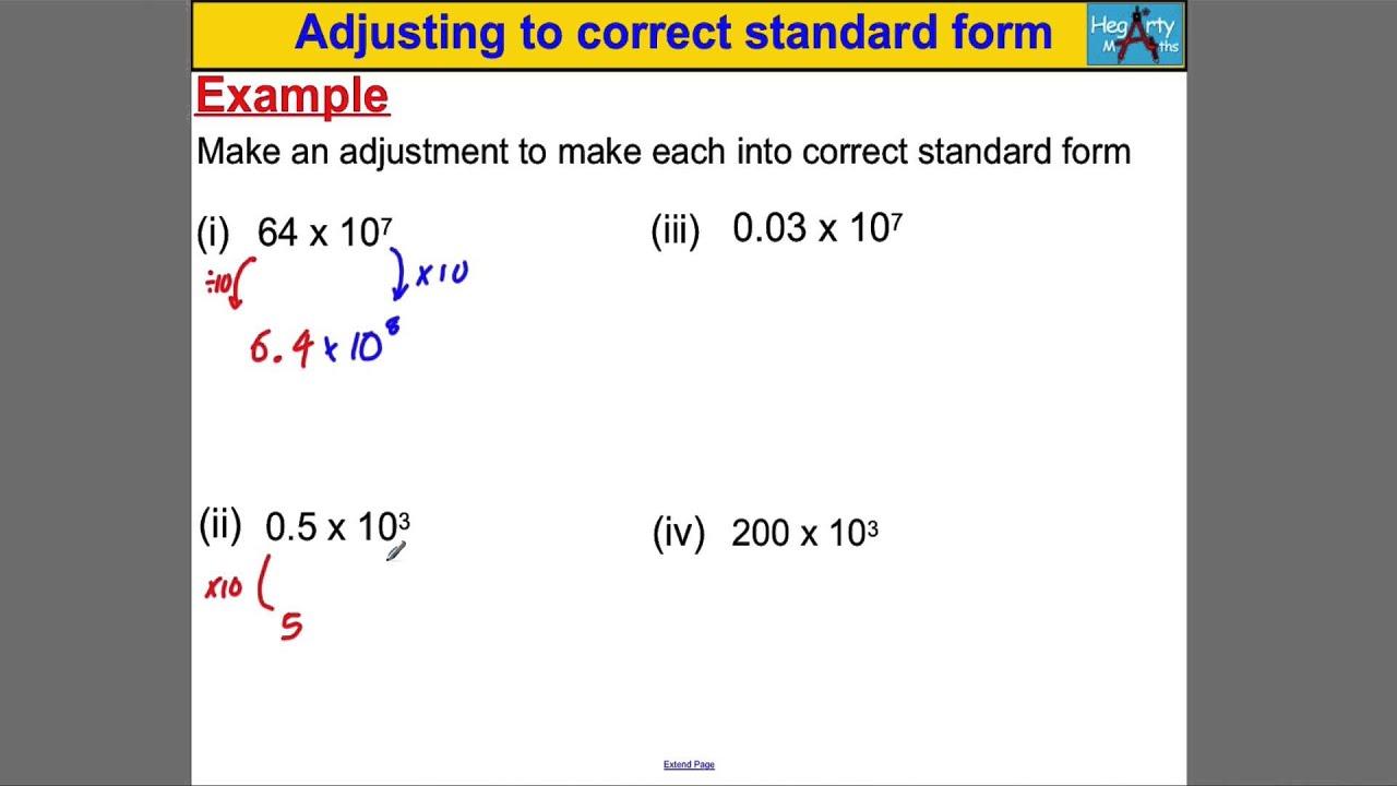Adjusting to correct standard form youtube adjusting to correct standard form falaconquin