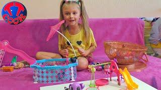 Детская Площадка с Горкой для Кукол ЛОЛ от Ярославы! Видео для детей LOL Surprise Dolls Bath Time