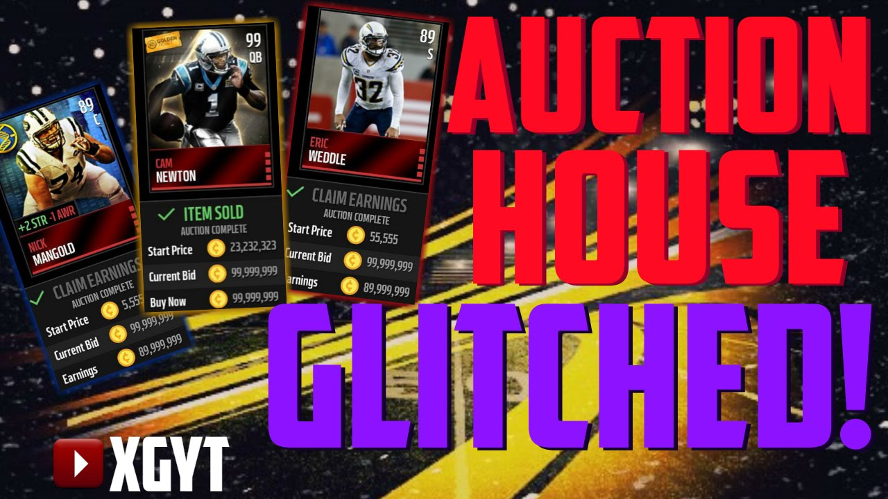 AUCTION HOUSE 99999999 COIN GLITCH MADDEN MOBILE 16