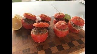 помидоры с фаршем в духовке