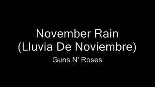 November rain (letra subtitulada)