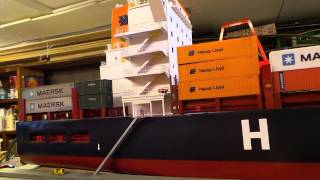 containership model scratcbuilt ,HO Scale