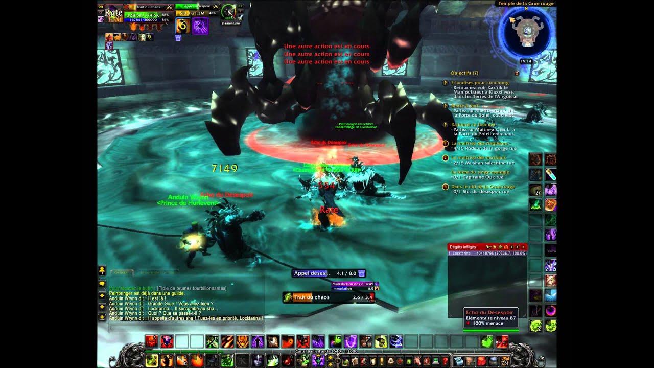 World of warcraft: Le sha du désespoir - YouTube
