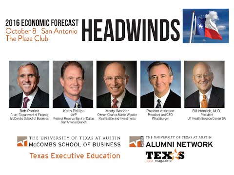 2016 McCombs Economic Forecast in San Antonio, October 8, 2015.