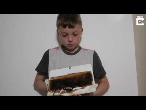 Boy wakes up to room full of smoke, realizes his tablet