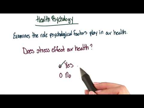 Health psychology - Intro to Psychology