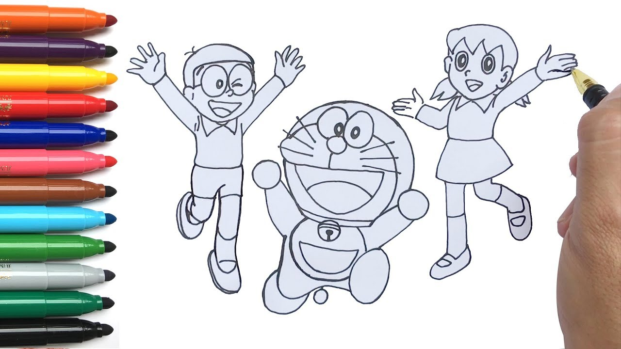 Cara Menggambar Doremon Nobita Dan Shizuka