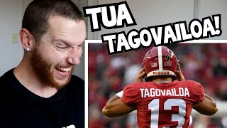 Rugby Player Reacts to TUA TAGOVAILOA Alabama 2017-2019 College Football Career Highlights!