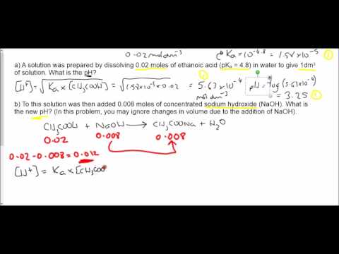 Buffers calculations examples 1-7