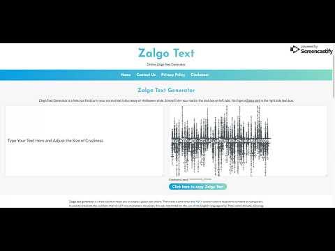 Zalgo Text Generator   Create Glitchy Text Online At Zalgo.org