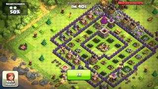 Clash of Clans ingame fight 4 32 Ballons lvl 6