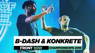 Bdash Konkrete Frontrow World Of Dance Championships 2018 Wodchamps18