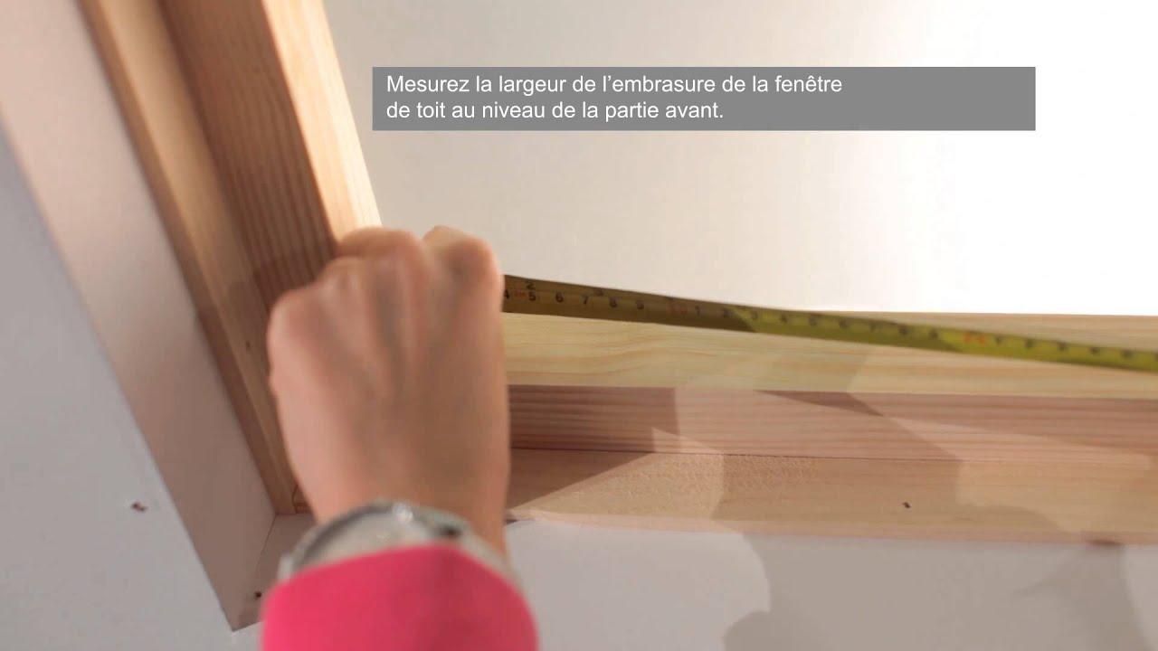 Mesure du cadre de la fen tre de toit youtube for Prise de mesure fenetre
