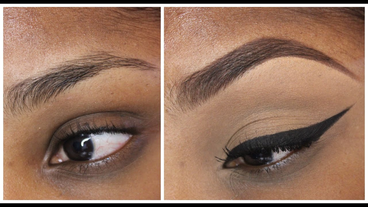Eye Brow tutorial with and with out concealer - YouTube