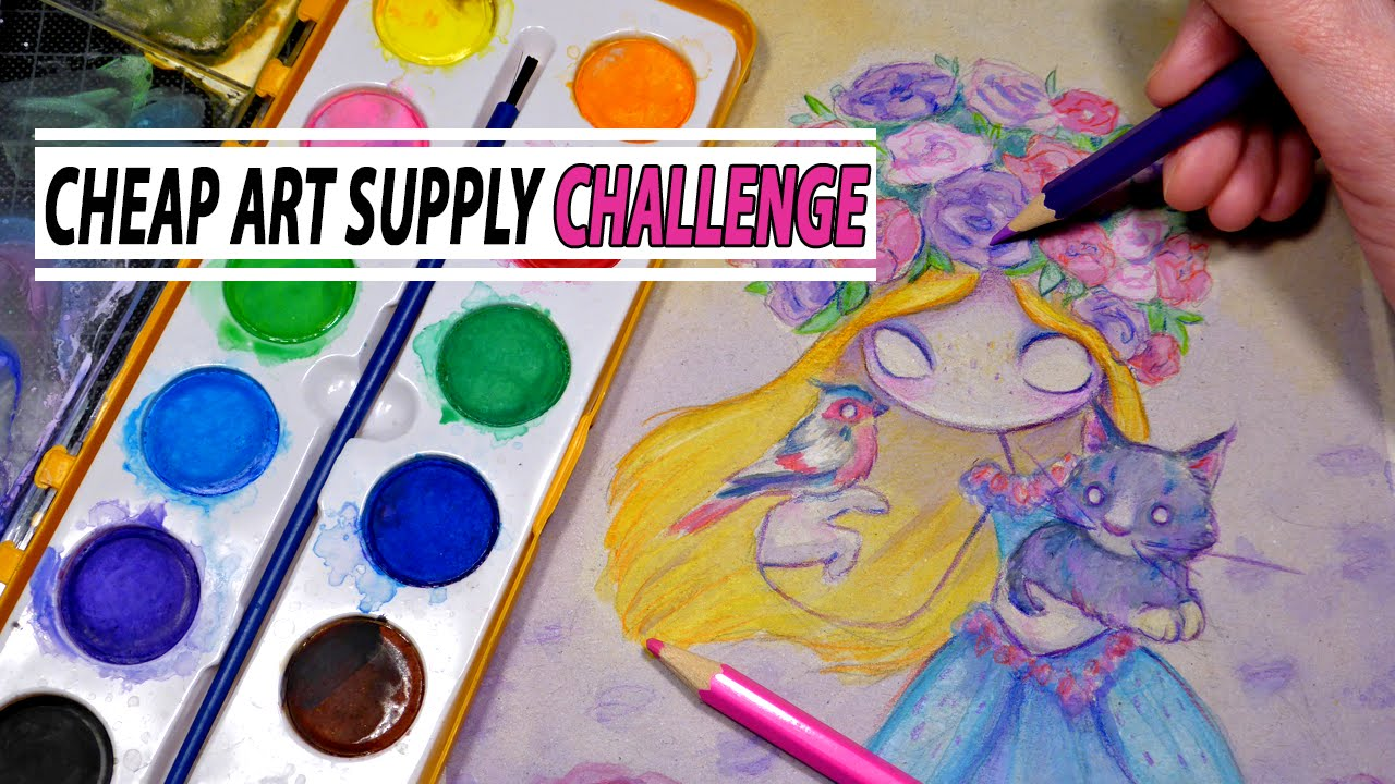 Cheap art supply challenge watercolor colored pencil for Craft supplies online cheap