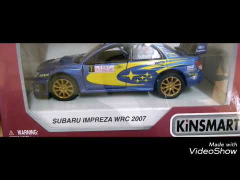 Unboxing Subaru Impreza WRC 2007  Scale 1:36 Kinsmart