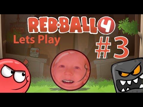 Lets Play Red Ball 4 часть #3. Game Play игры про красного шарика и злых квадратиков