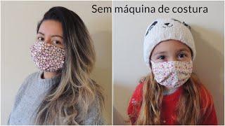 Mascara de Proteção Sem Usar Maquina de Costura
