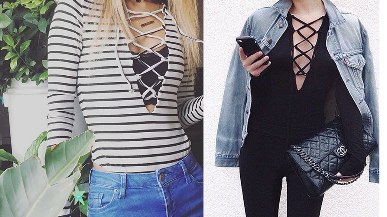2c499e5c555 20 Style Tips On How To Wear A Lace-Up Shirt - YouTube