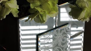 A Neat Way You Can Make A Dollar Tree Mirrored Flower Vase