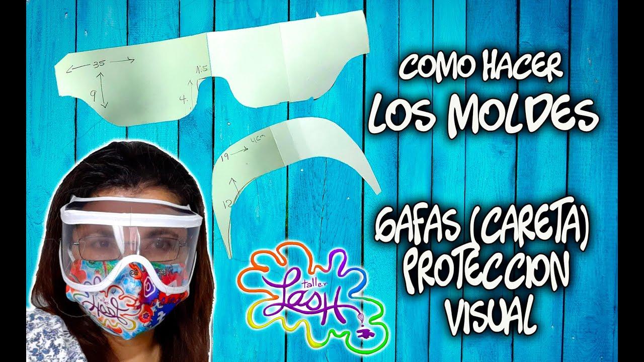 paso a paso  moldes de las gafas de protección visual|Taller Lash