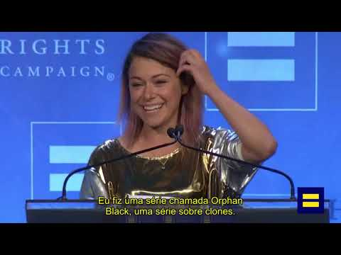 [LEGENDADO] Discurso Tatiana Maslany - Ally for Equality Award (HRC North Carolina Gala)