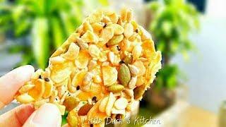 """""""果仁麦芽酥片""""食谱 ❤ Florentine Nuts Cookies Recipe"""