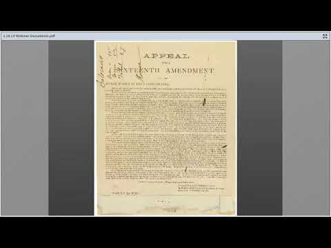 Petitions, Protest, and Persuasion: Women's Voices in the Records of the National Archives