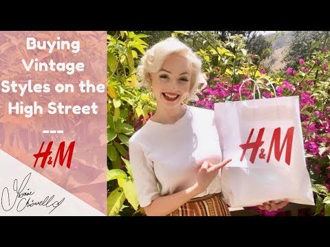 Vintage Inspired Clothing On A BUDGET! | H & M | Jasmine Chiswell