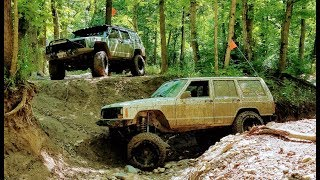 Jeep Cherokee XJ & ZJ Offroading - The Cliffs Insane Terrain, July 2018