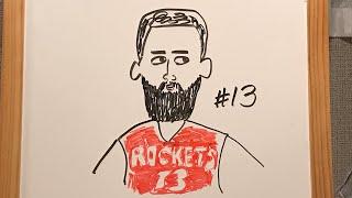 Rockets James Harden How to draw James Harden Houston Rockets