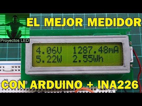 Medidor de panel para fuentes, con arduino, ina226 y lcd 2x16