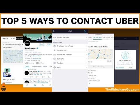 Top 5 Ways To Contact Uber Support - Maximum Ridesharing Profits