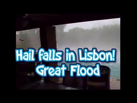 Hail falls in Lisbon! Great Flood! (Granizo)