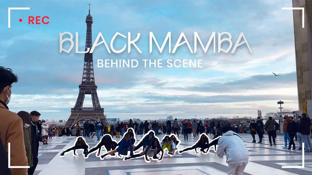 [KPOP IN PUBLIC | ONE SHOT] aespa 에스파 'Black Mamba' Dance Cover in Paris (Behind The Scene)
