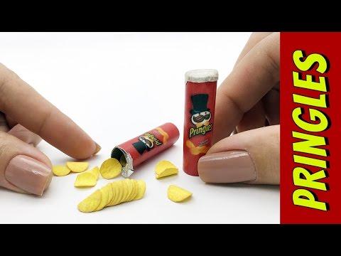 Como fazer Mini Batata Pringles para Barbie e outras Bonecas