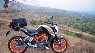 My adventure with ktm duke 390 Trailer