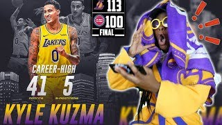 KYLE KUZMA SCORED CAREER HIGH 41 POINTS! BLAKE GRIFFIN GRABBED ZERO REBOUNDS LOL! Lakers vs. Pistons
