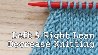 A super quick, no waffle instruction today on how to decrease in knitting, both for a left and right lean decrease using the knit stitch. I hope you find it useful!