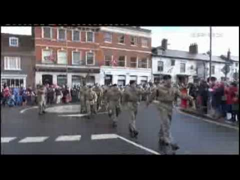 Hungerford Welcomes Home 6 Bn REME 10.02.14