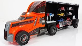 Truck transporting cars toys for kids Transport Truck