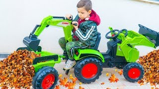 Tema pretend playing with toys and Ride On Power Wheels - Video collection for Children