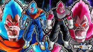 Dragon Ball Xenoverse 2 Oozaru Fusion Pack - Great Ape Vegito & Vegito Black Gameplay (ALL FORMS)