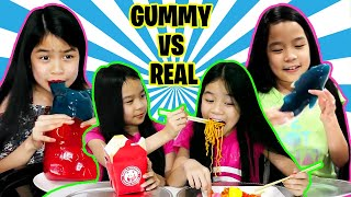 GUMMY VS REAL FOOD COMPILATION | Tran Twins