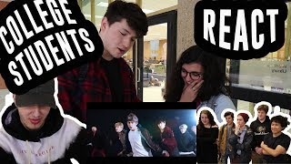 *RANDOM* COLLEGE STUDENTS REACT TO BTS FOR FIRST TIME (MIC DROP) | STREET EDITION | NON KPOP FANS