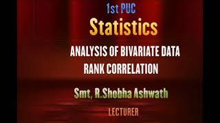 I PUC | Statistics | Analysis of bivariate data- 11