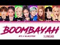 How Would BTS and BLACKPINK sing 'BOOMBAYAH' by BLACKPINK(Color Lyrics Eng/Rom/Han/Kan)(FANMADE)